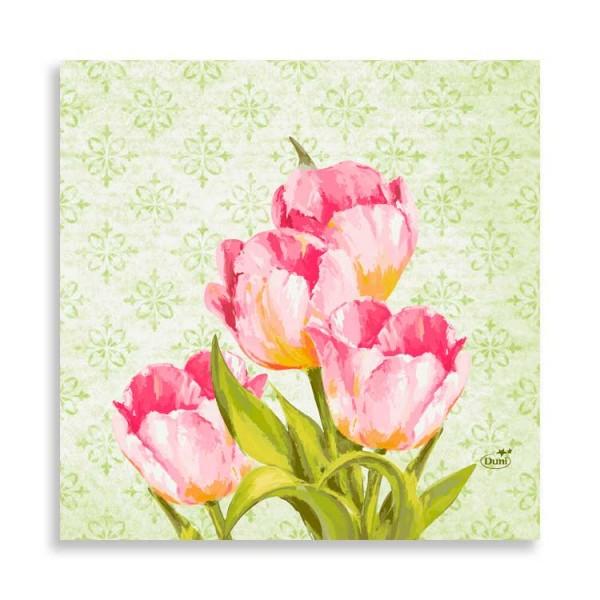 "33er Zelltuchserviette ""Love Tulips"""