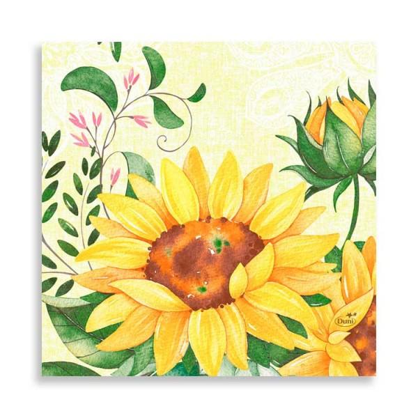 """33er Zelltuchserviette """"Sunflower"""""""