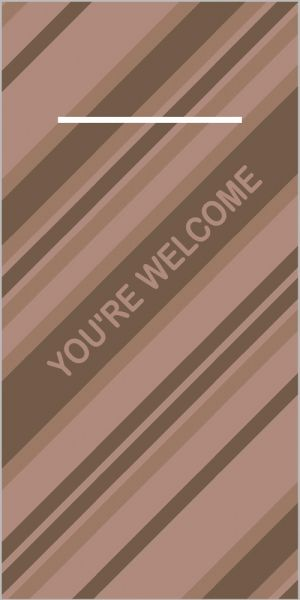 "Pocket Napkins ""You're Welcome"""