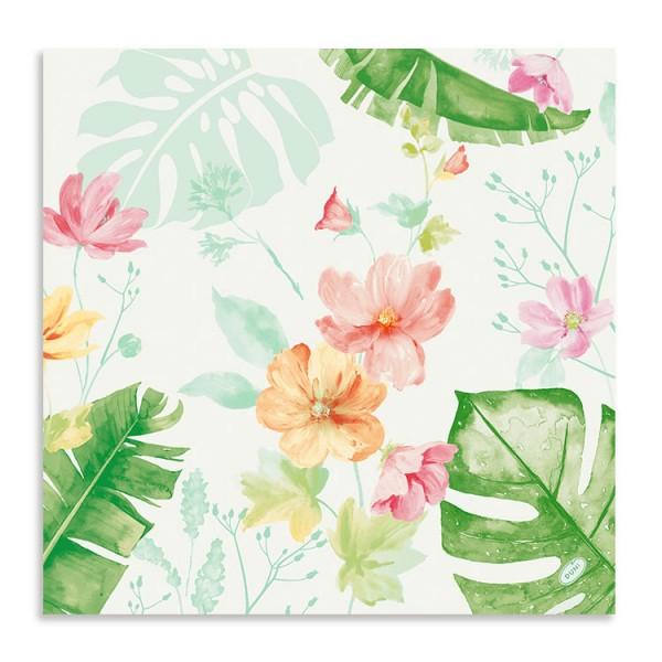 """Dunisoft Serviette """"Tropical Garden"""""""