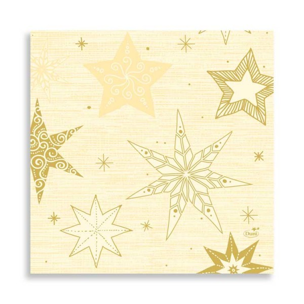 "33er Zelltuchserviette ""Star Stories Cream"""