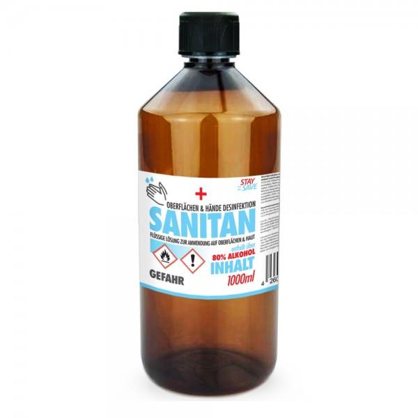 Desinfektionsmittel für Hände und Flächen, 1 Liter