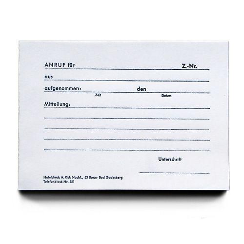 Notizblock für telefonische Mitteilungen, DIN A6