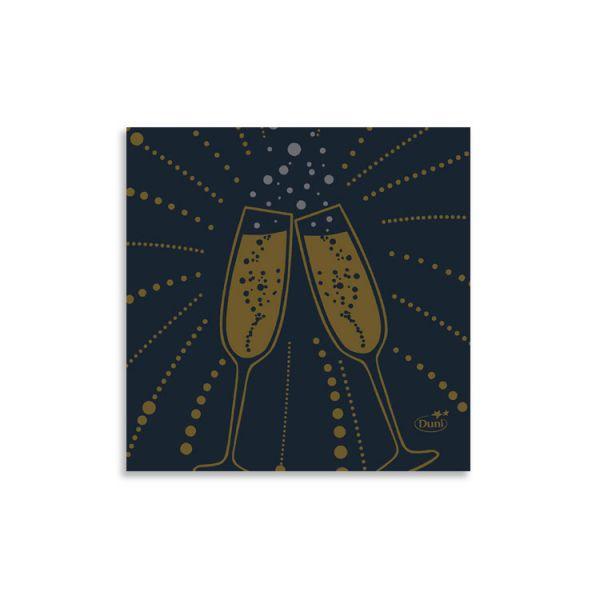 "20er Dunisoft Serviette ""Festive Cheers Black"""