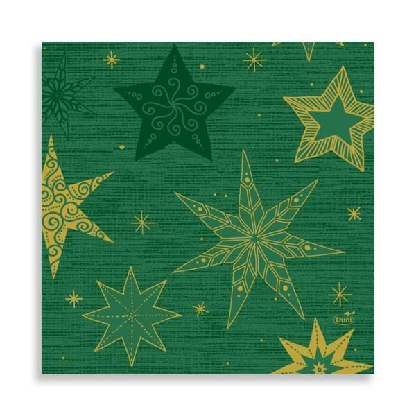 """33er Zelltuchserviette """"Star Stories Green"""""""