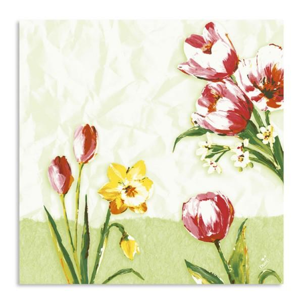 """40er Zelltuchserviette """"Red Tulip"""""""