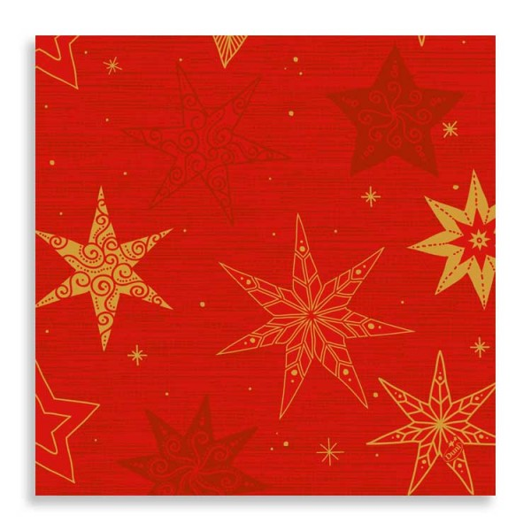 "40er Zelltuchserviette ""Star Stories Red"""