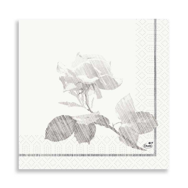 "33er Zelltuchserviette ""Grey Rose"""