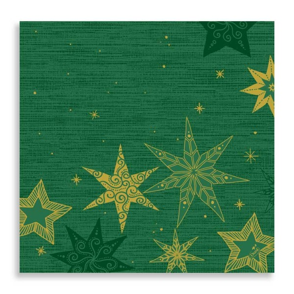 "40er Dunisoft Serviette ""Star Stories Green"""