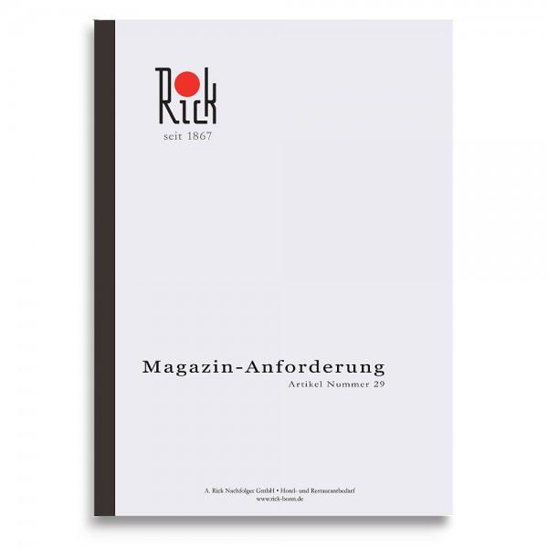 Magazinanforderungsbuch