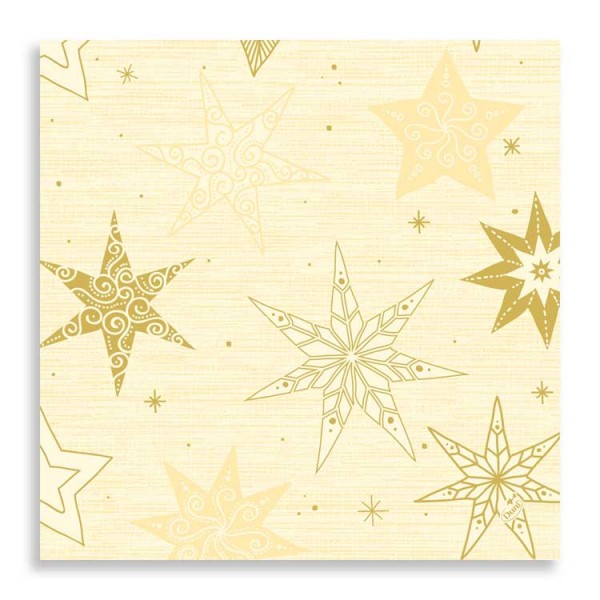 "40er Zelltuchserviette ""Star Stories Cream"""