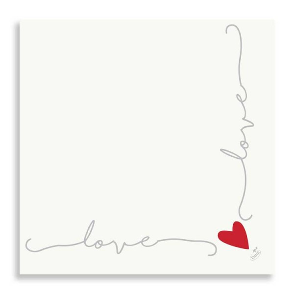 "40er Dunisoft Serviette ""Love"""