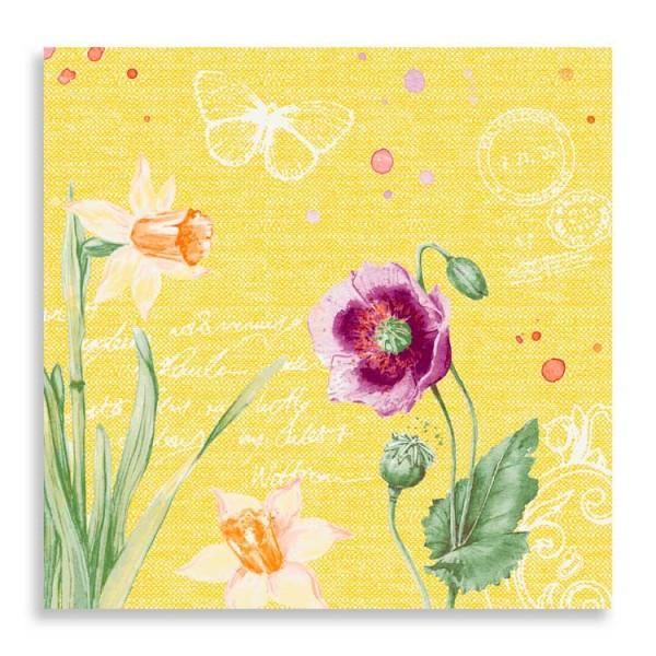 "40er Dunisoft Serviette ""Spring Lilies"""