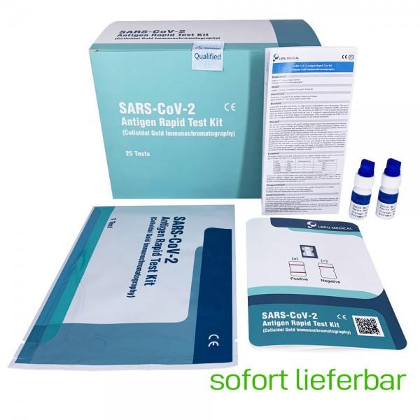 450 Stück Lepu SARS-CoV-2 Antigen Rapid Test Kit Nasenabstrich