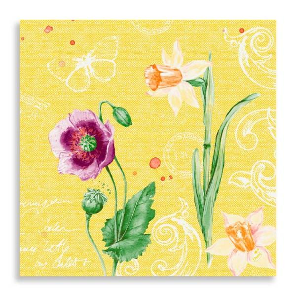 """40er Zelltuchserviette """"Spring Lilies"""""""