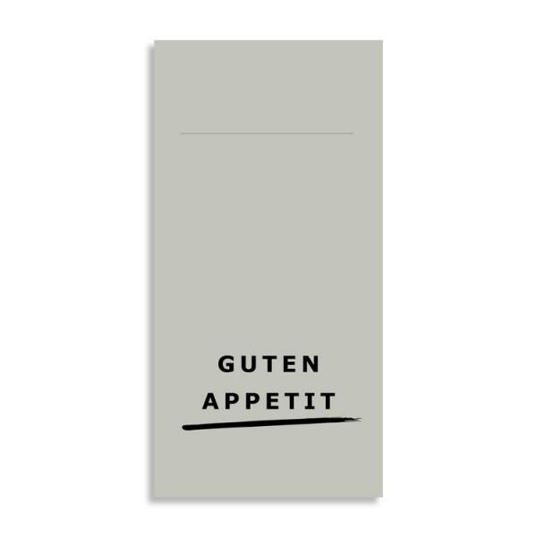 "Pocket Napkin ""Guten Appetit"" grey"